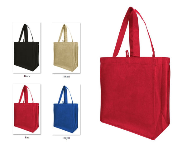 "11"" Non-Woven Tote Bags, Unprinted - GeorgiaBags"