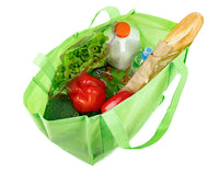 Non Woven Large Green Reusable Grocery Shopping Bags - GeorgiaBags