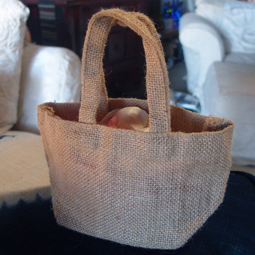 Mini Size Burlap Jute Totes - GeorgiaBags