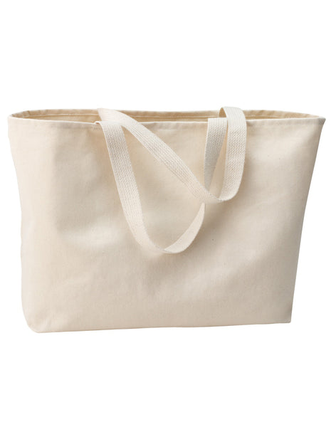 "6 Pack Heavy Duty Canvas Twill Tote Bags, Jumbo Large Totes, 15""h x 20""w x 5""d - GeorgiaBags"