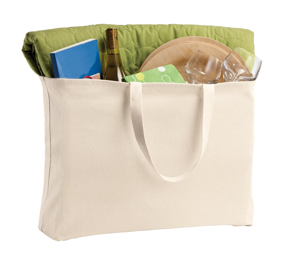 "Reusable Grocery Tote Bags, Jumbo Size, 15""h x 20""w x 5""d - GeorgiaBags"