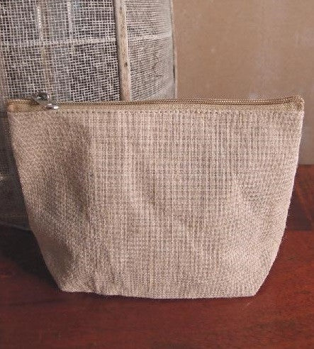 "8"" Jute Zipper Pouch - GeorgiaBags"