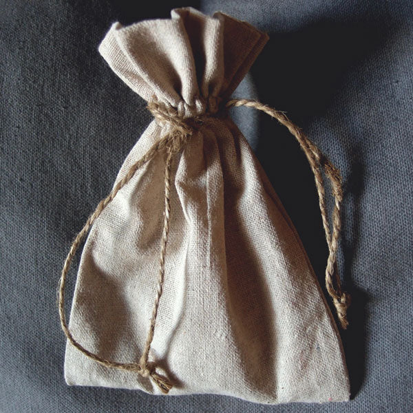 "12 Pack Linen Bag with Jute Cord 5"" x 7"" - GeorgiaBags"
