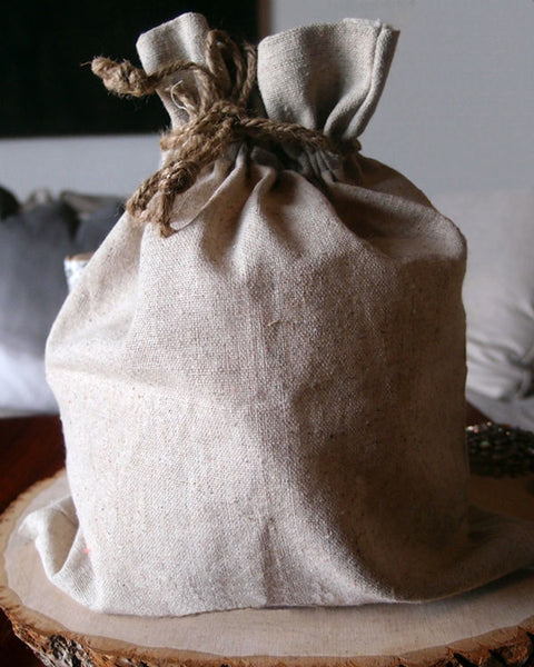 "12 Pack Linen Bag with Jute Cord 10"" x 12"" - GeorgiaBags"