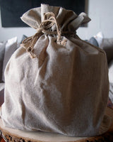 "12 Pack Linen Bag with Jute Cord 12"" x 14"" - GeorgiaBags"