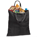 Economical Basic Black Color Cotton Tote Bags - GeorgiaBags