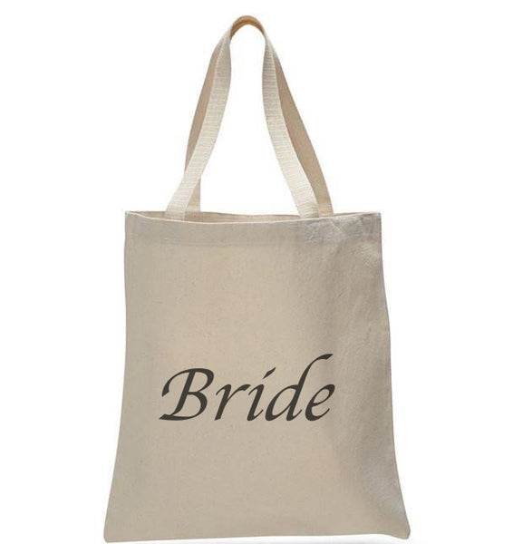 Bride Natural Bridal Pink Printed Wedding Tote Bags - GeorgiaBags