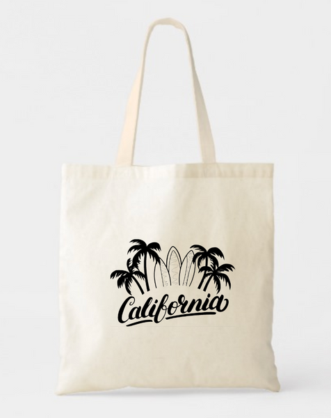California Canvas Tote Bags - GeorgiaBags