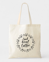 But First Coffee Canvas Tote Bags - GeorgiaBags