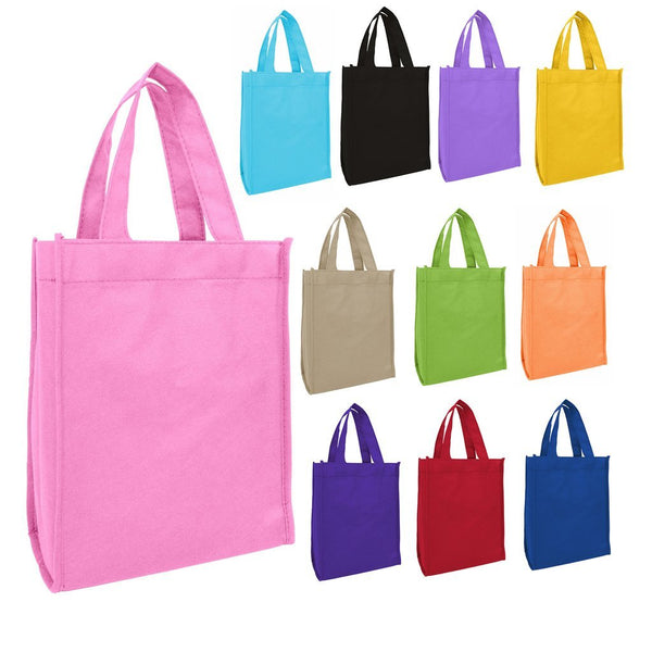 "Small Size Non-Woven Tote Bags 8"" x 10"" x 4-1/4"" - GeorgiaBags"