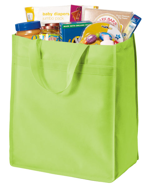 "Shopper PP Non-Woven Grocery Tote Bags, 15.5""h x 13""w x 8""d - GeorgiaBags"
