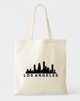 Los Angeles City Canvas Tote Bags - GeorgiaBags