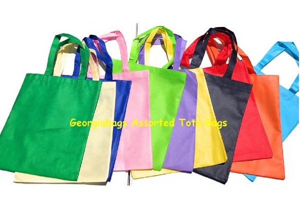 "Bulk Promotional Cheap Non-Woven Tote Bags 13""W x 15""H - GeorgiaBags"