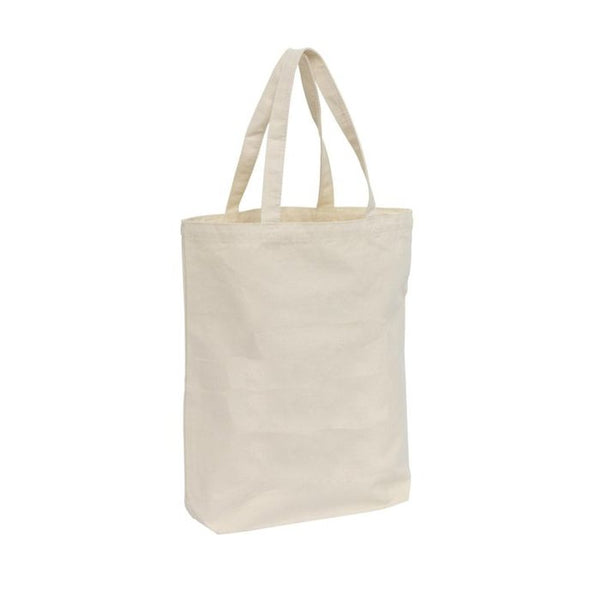 Organic Canvas Carrying Tote Bag with Long Handles, 12 Pack - GeorgiaBags