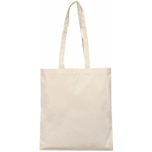 Organic Cotton Carrying Tote Bag with Long Handles, 12 Pack - GeorgiaBags