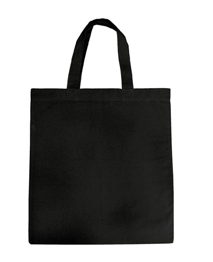 Black Color Strong-Durable Heavy Duty 100% Canvas Flat Tote Bags ( 12 Pack ) - GeorgiaBags