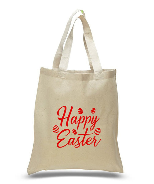 Happy Easter Custom Cotton Tote Bag 103 - GeorgiaBags