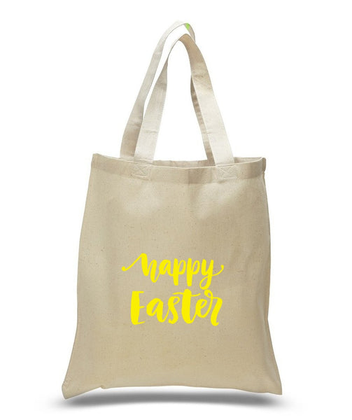 Happy Easter Custom Cotton Tote Bag 106 - GeorgiaBags