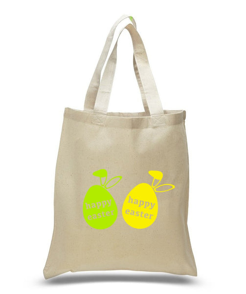 Happy Easter Custom Cotton Tote Bag 108 - GeorgiaBags