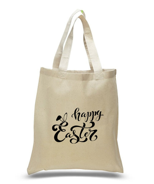 Happy Easter Custom Cotton Tote Bag 110 - GeorgiaBags