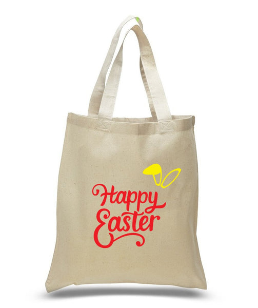 Happy Easter Custom Cotton Tote Bag 113 - GeorgiaBags