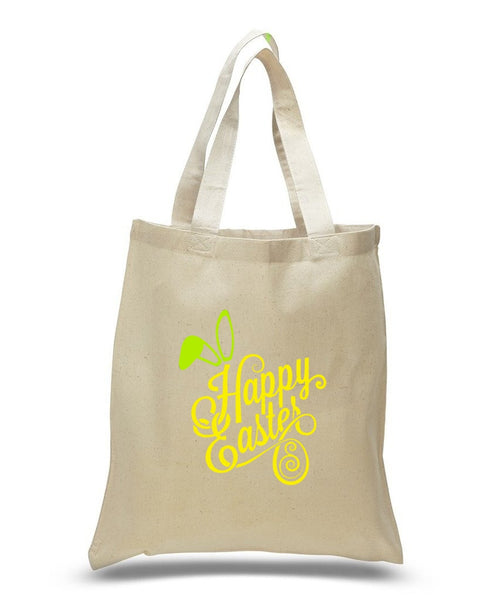 Happy Easter Custom Cotton Tote Bag 114 - GeorgiaBags