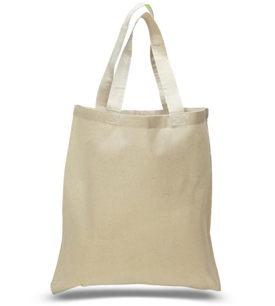 12 Pack Economical Basic Natural Cotton Tote Bags CB100 (Standard Size)