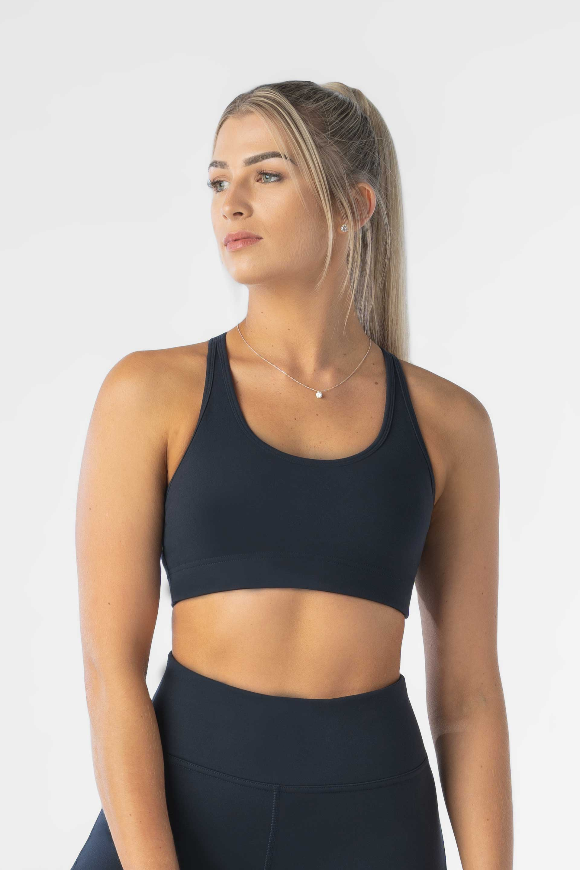 Cut Out Sports Bra - NAVY