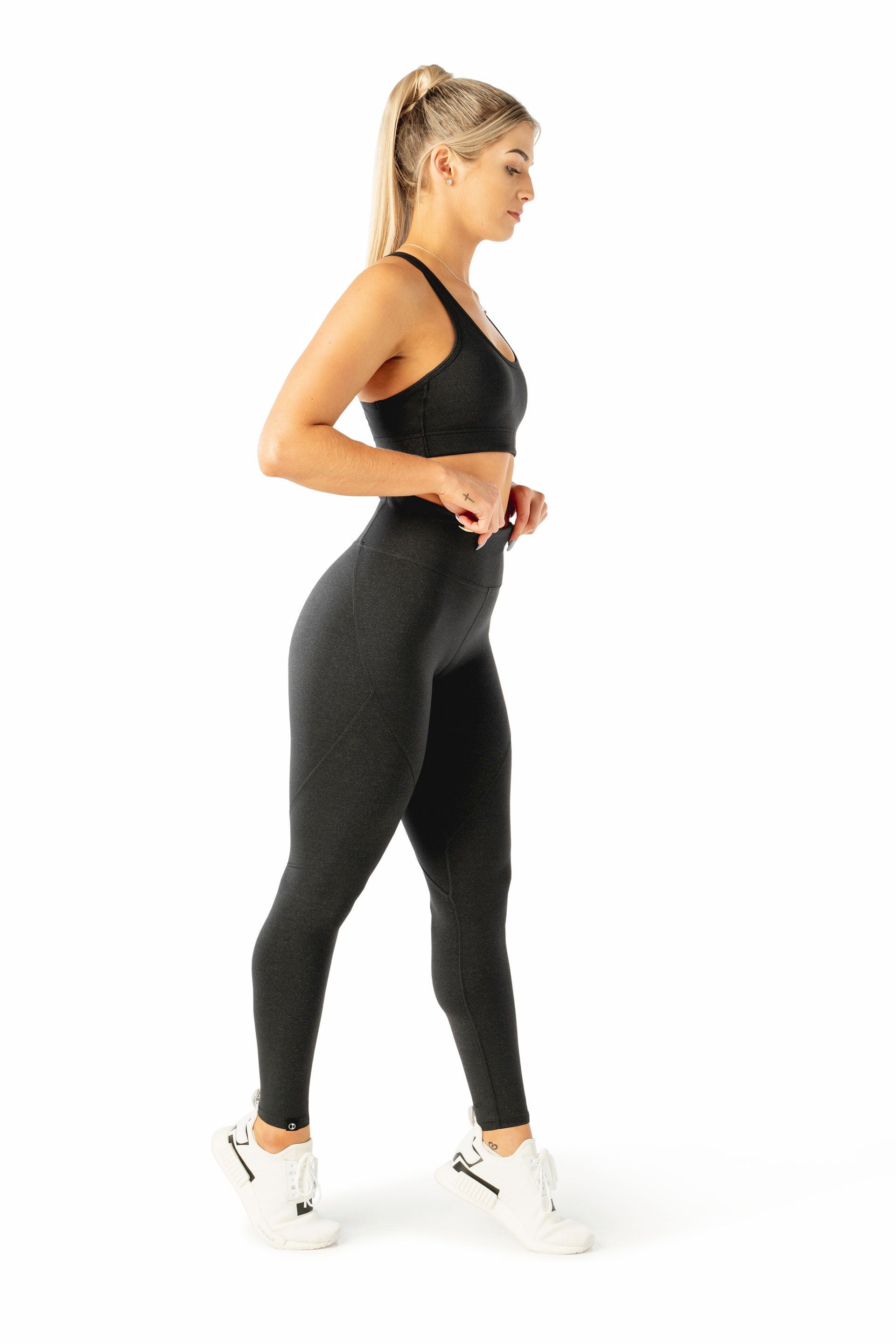 SCULPT F/L TIGHTS - BLACK MARL