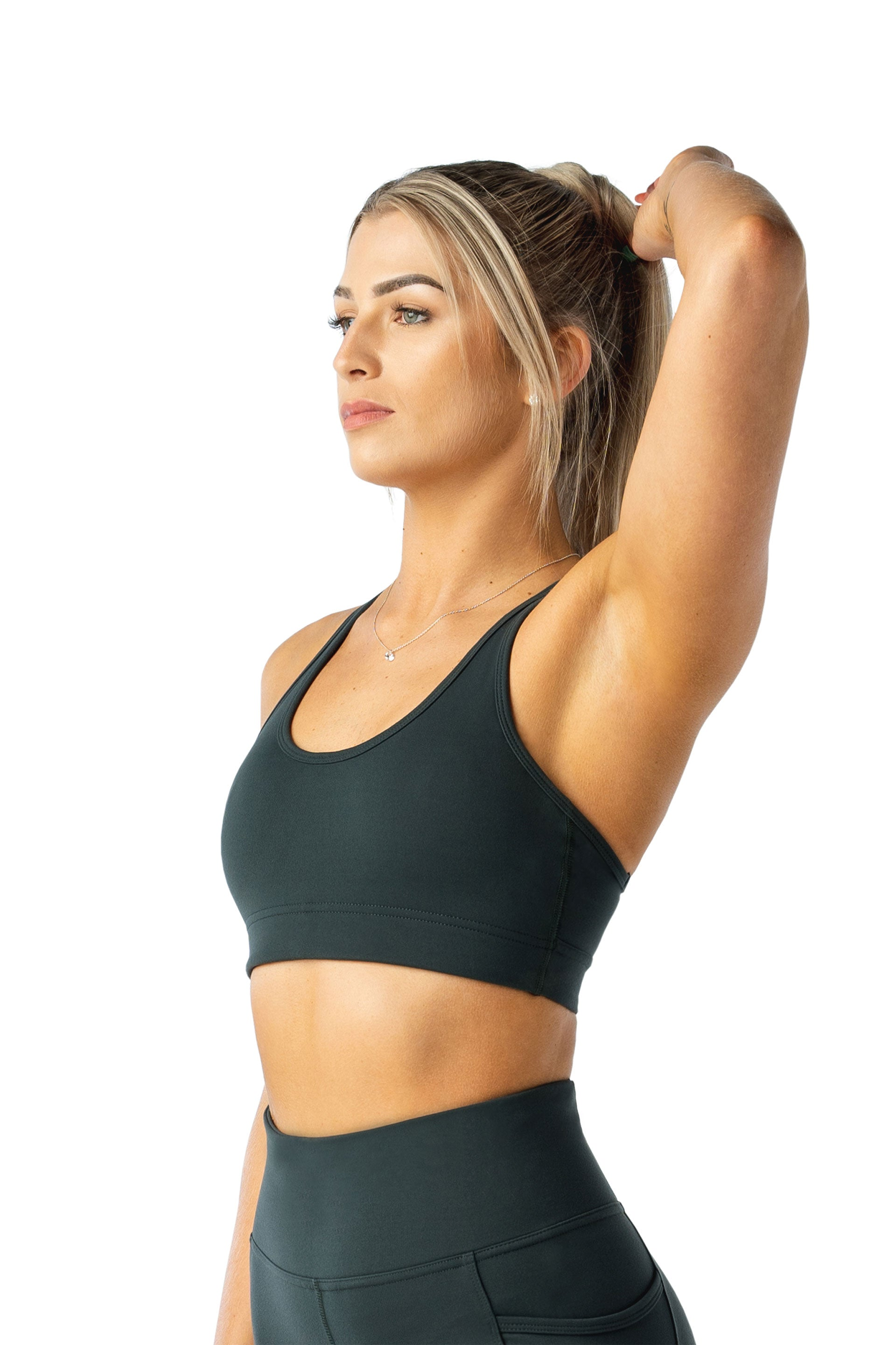 Cut Out Sports Bra - GREEN