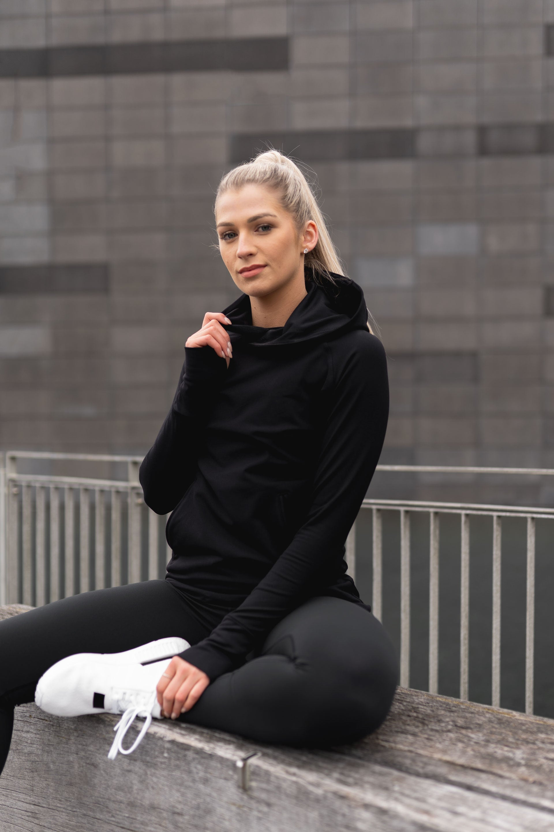 TECH STRETCH ACTIVE HOODIE 2.0 - ( SIZES: XS, S, M )