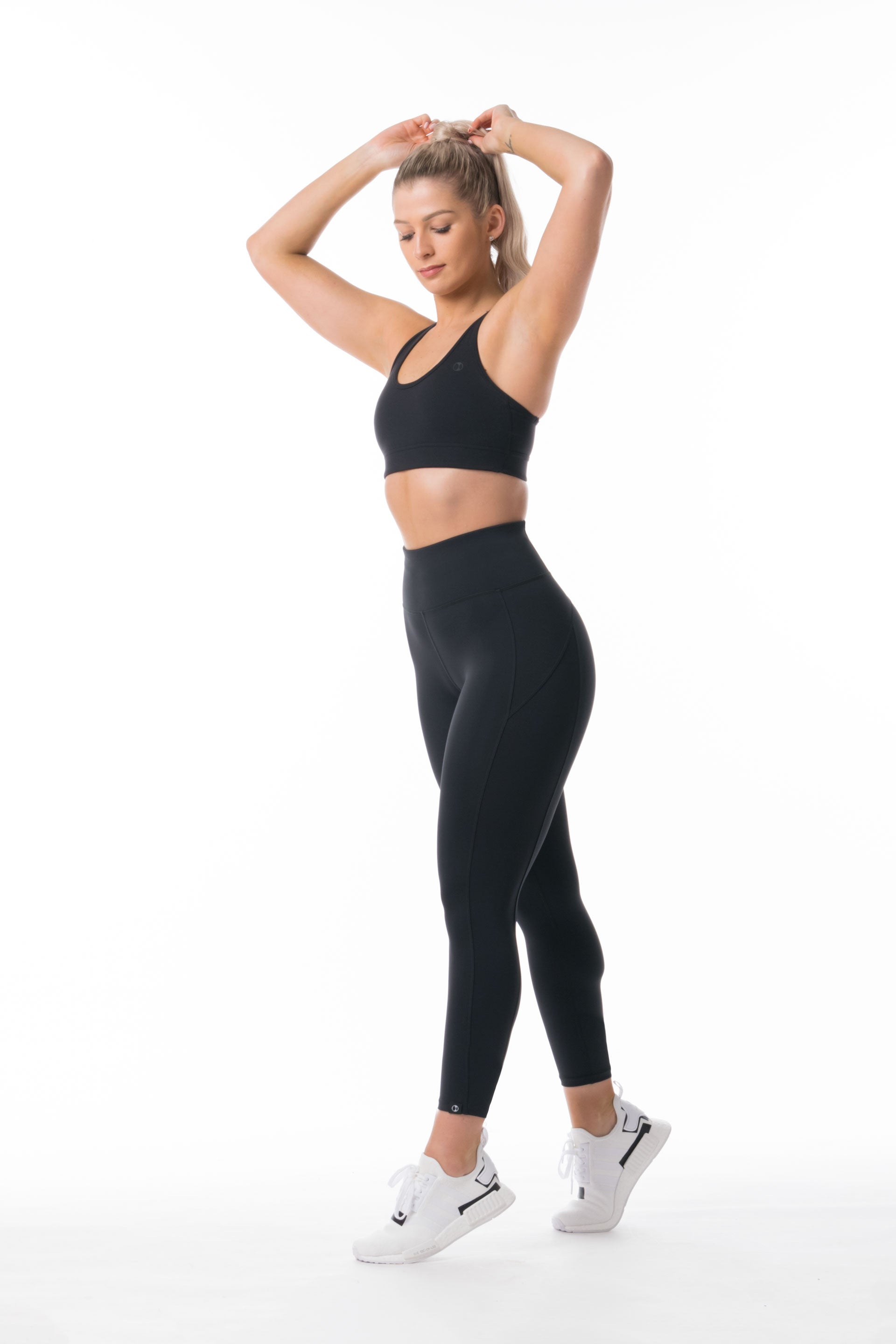 Performance Knit 7/8 HIGH WAISTED TIGHTS - BLACK