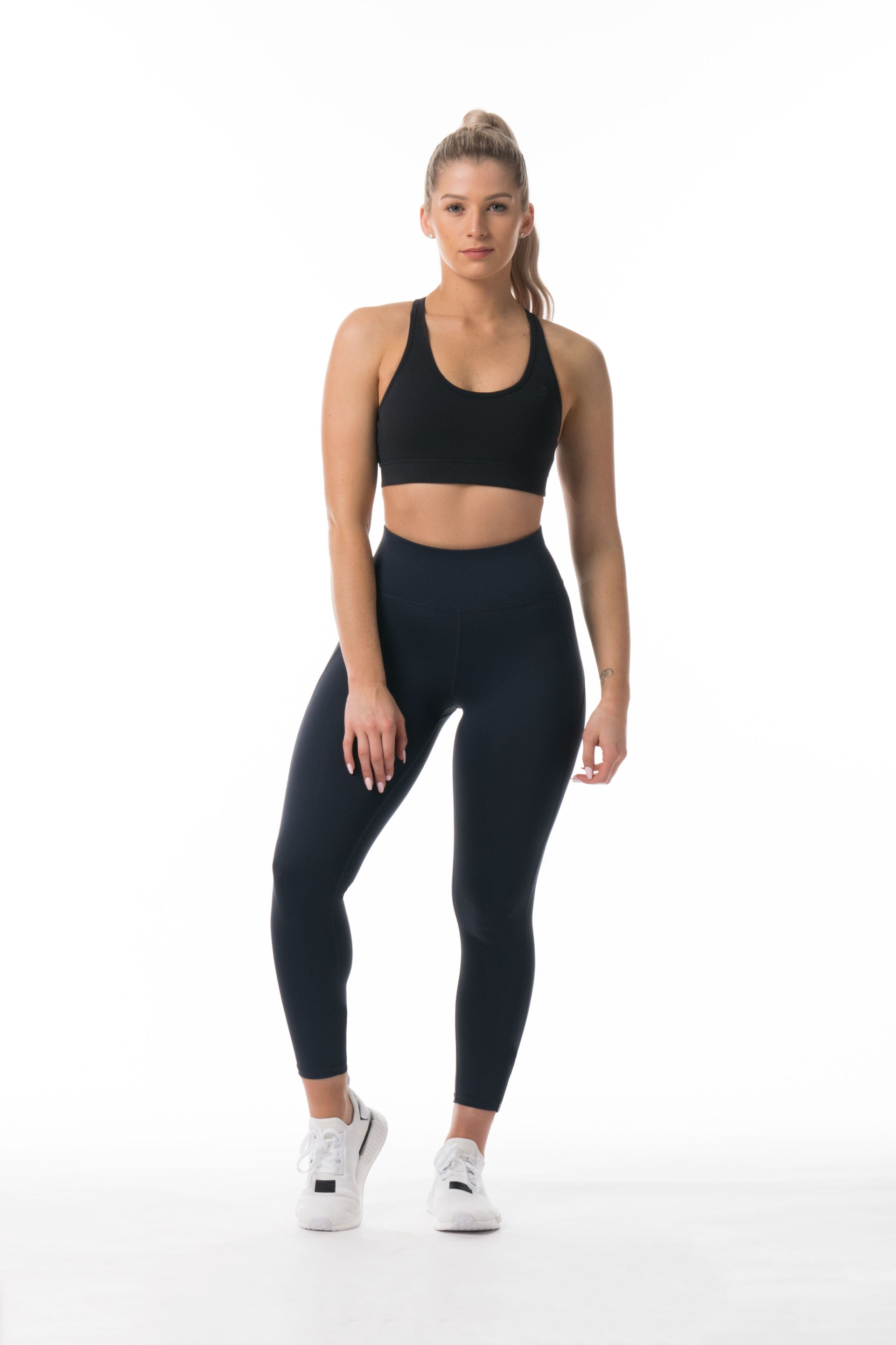 Performance Knit 7/8 HIGH WAISTED TIGHTS - NAVY