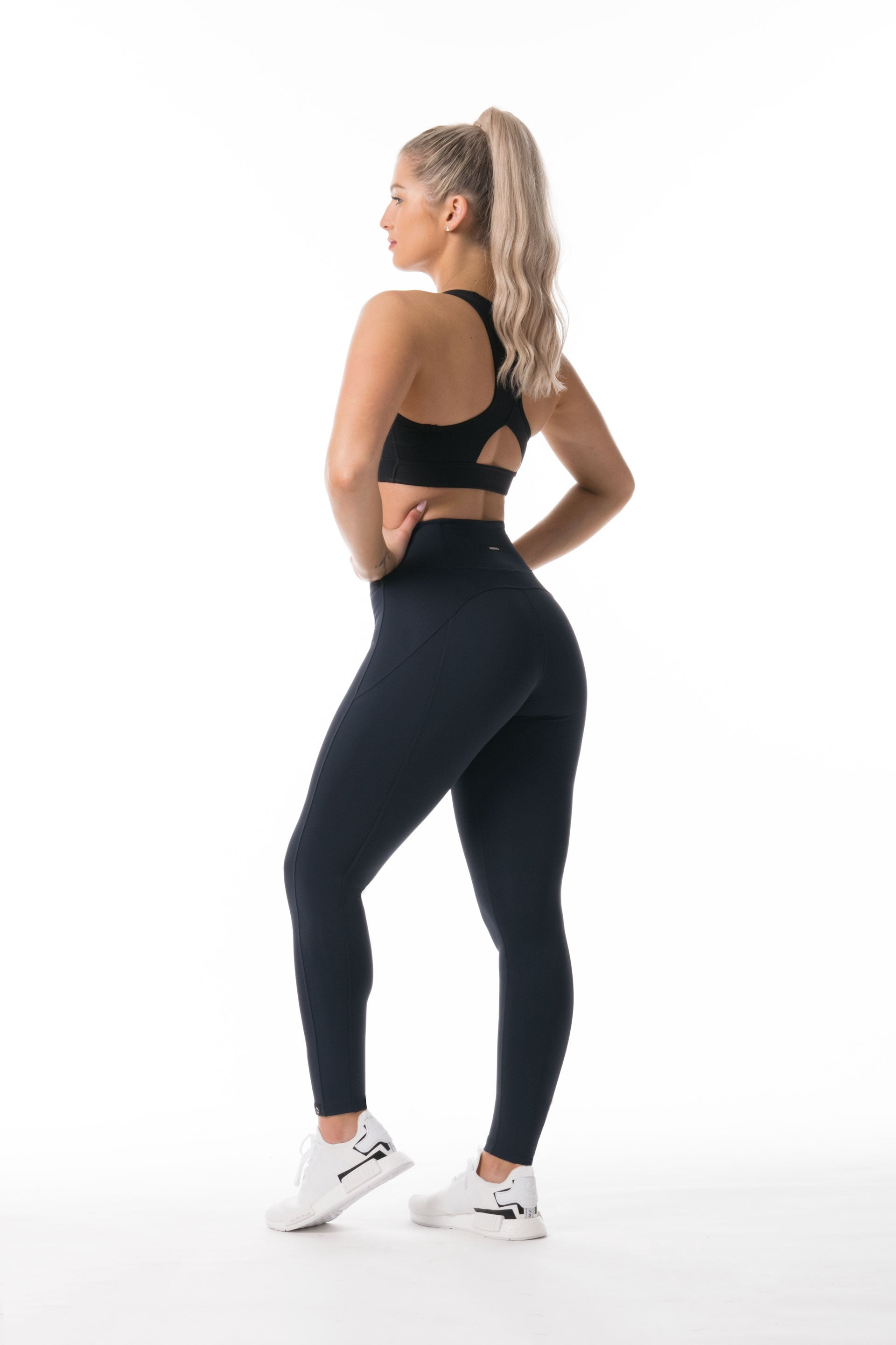 Performance Knit F/L HIGH WAISTED TIGHTS - NAVY