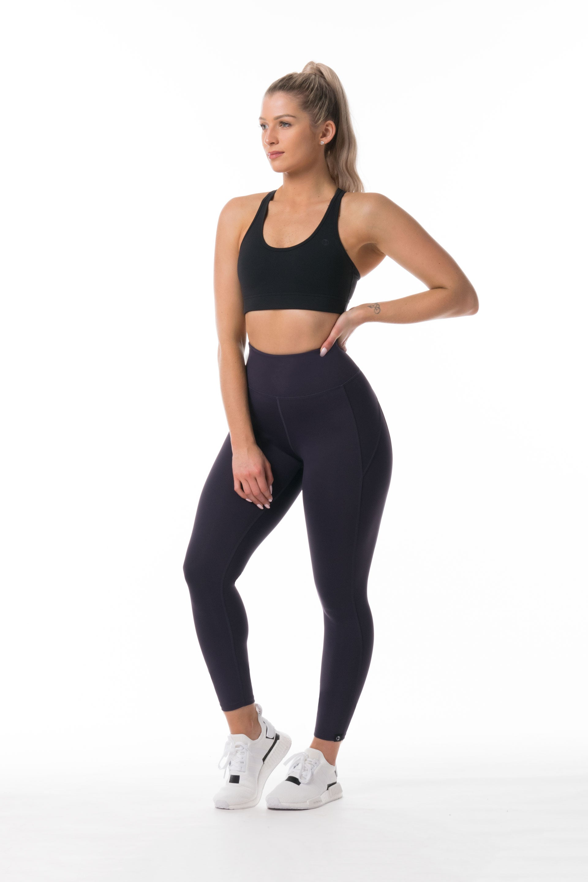 Performance Knit 7/8 HIGH WAISTED TIGHTS - PURPLE