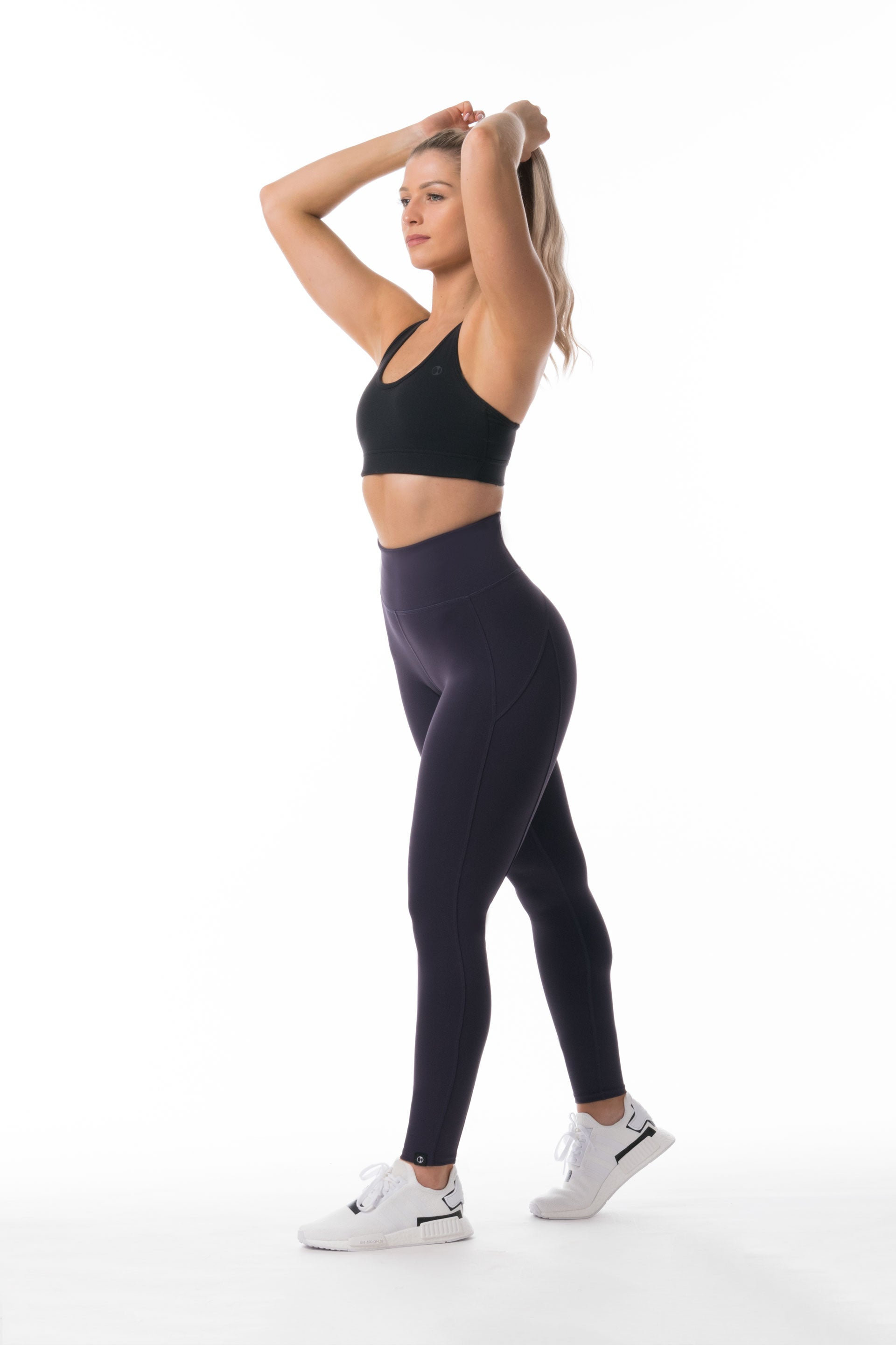 Performance Knit F/L HIGH WAISTED TIGHTS - PURPLE