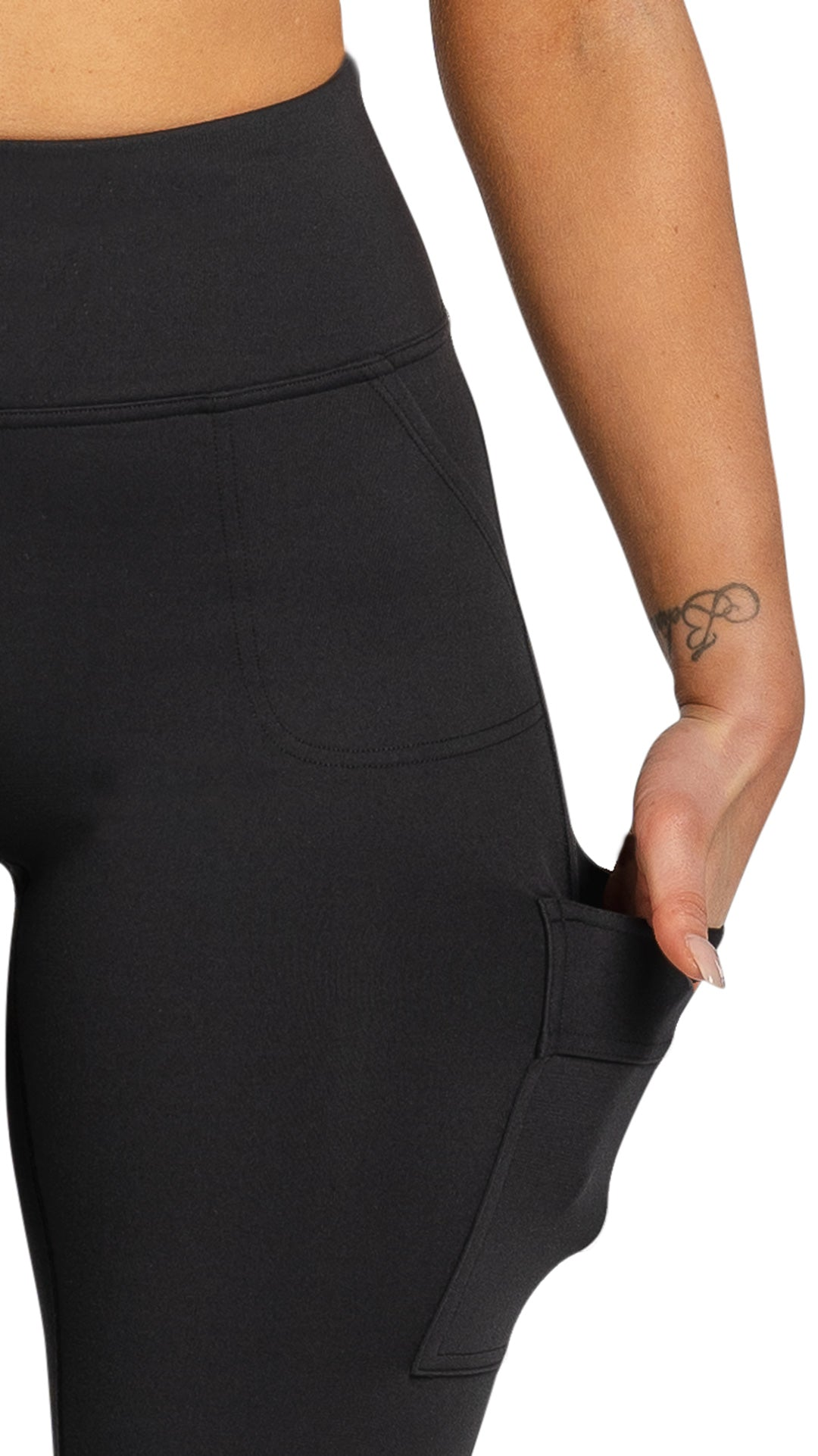 CARGO POCKET BIKE SHORT - BLACK