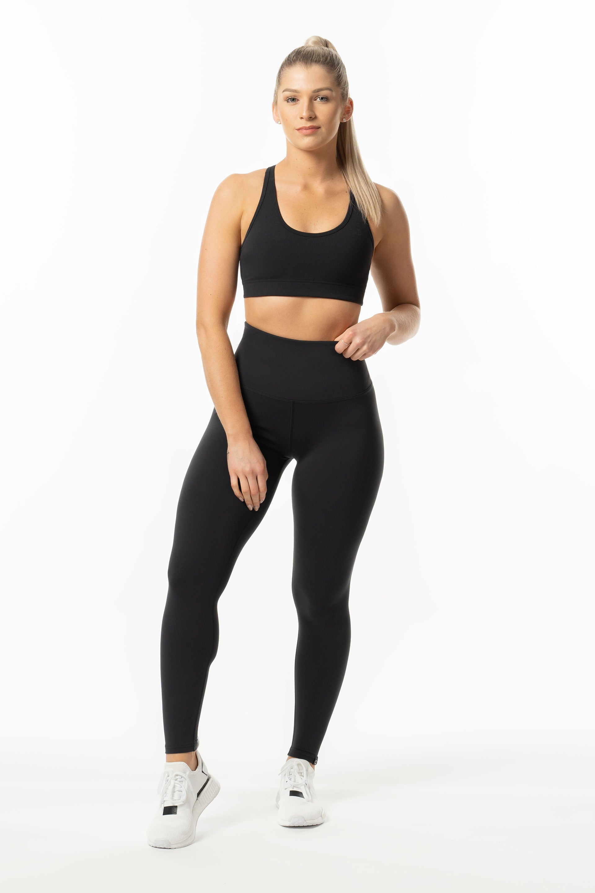 TechLite F/L Hi-RISE TIGHTS - BLACK - ( SIZES LEFT: XS + S  )