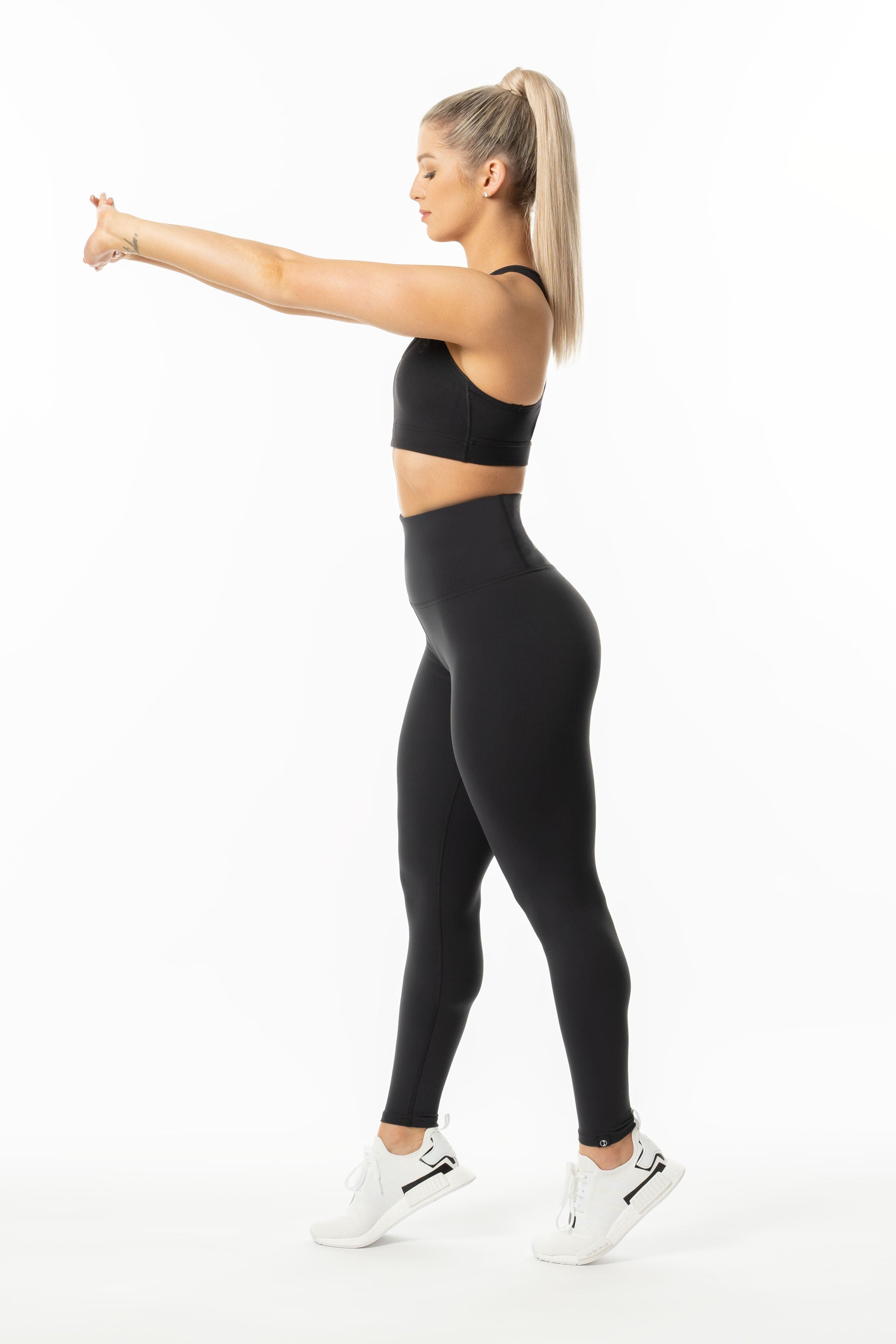 TechLite F/L Hi-RISE TIGHTS - BLACK - ( SIZES LEFT: XS )