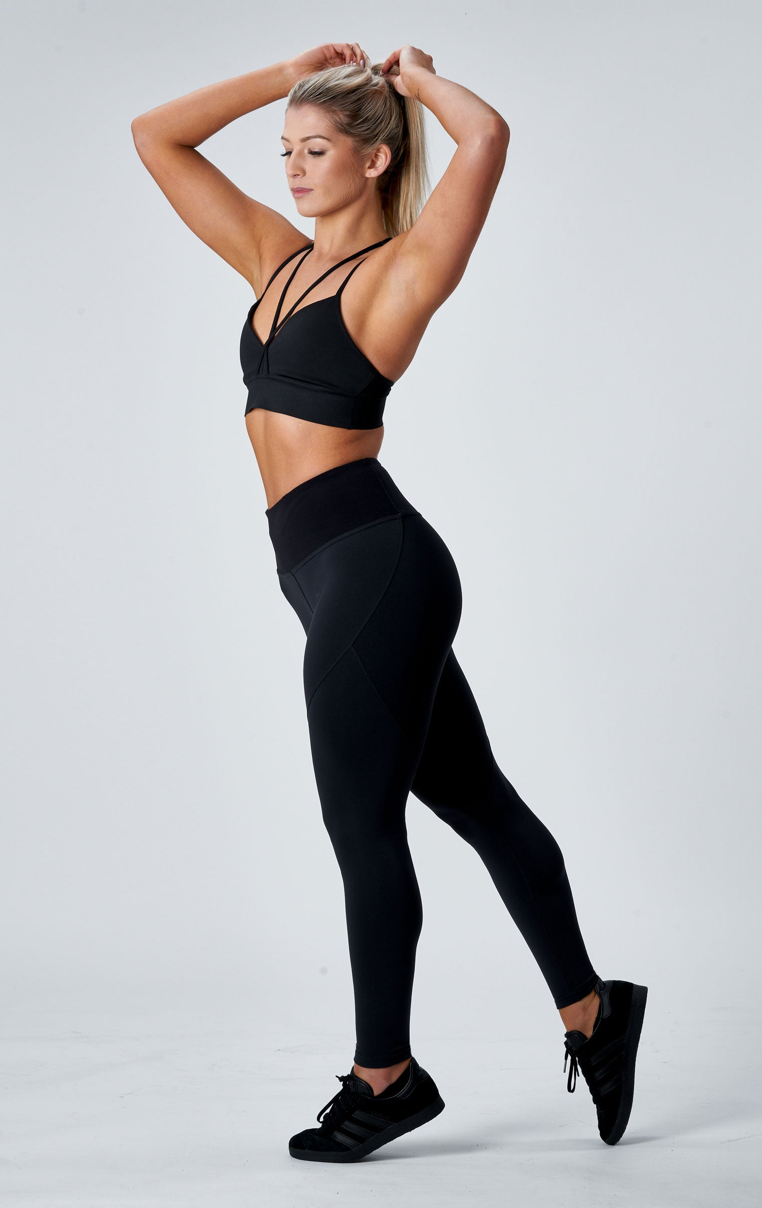 SCULPT F/L TIGHTS - ONYX BLACK ( SIZES: XS )
