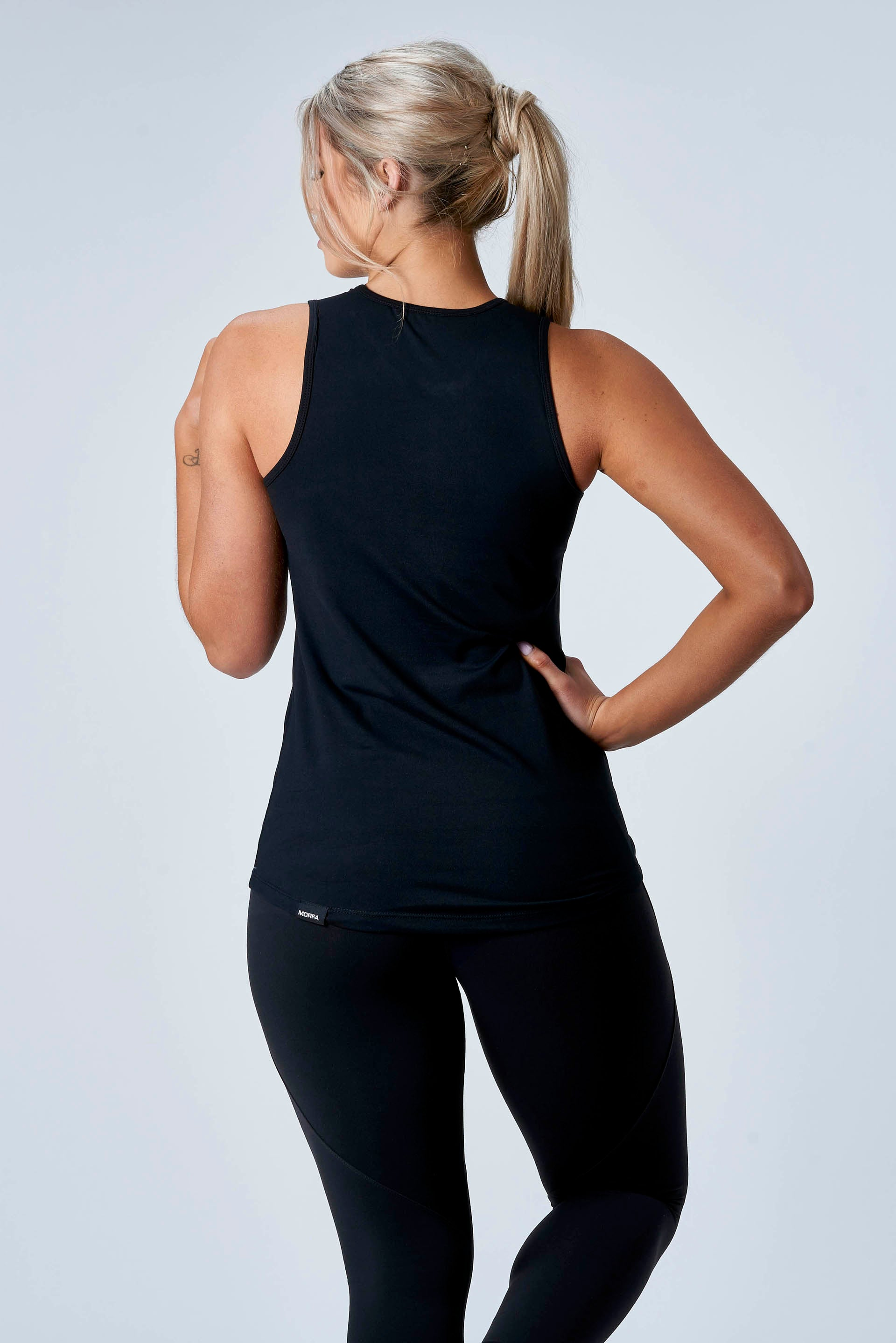 CarbonTech - HIGH NECK TANK - BLACK