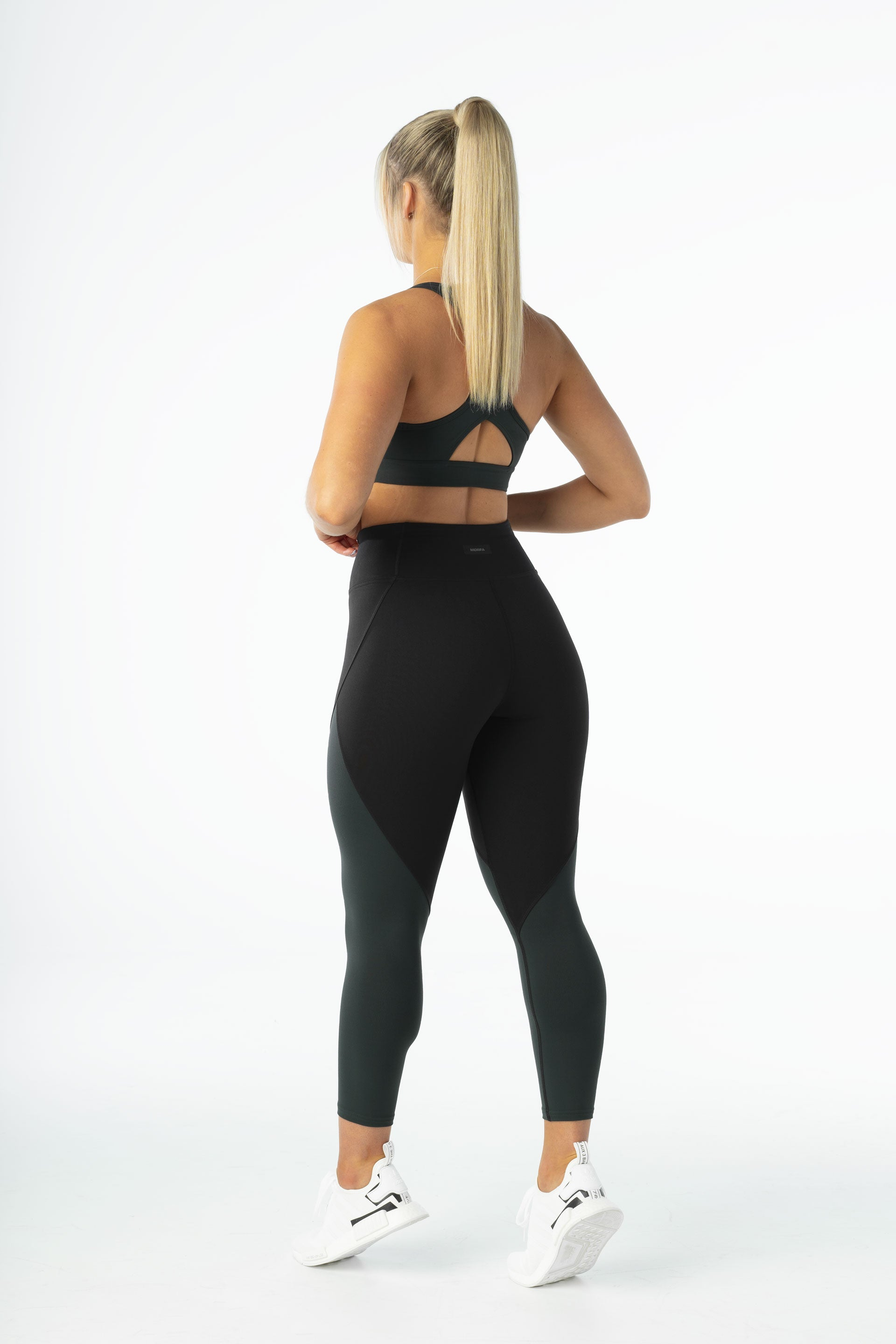 SCULPT 7/8 TIGHTS - BLACK / GREEN