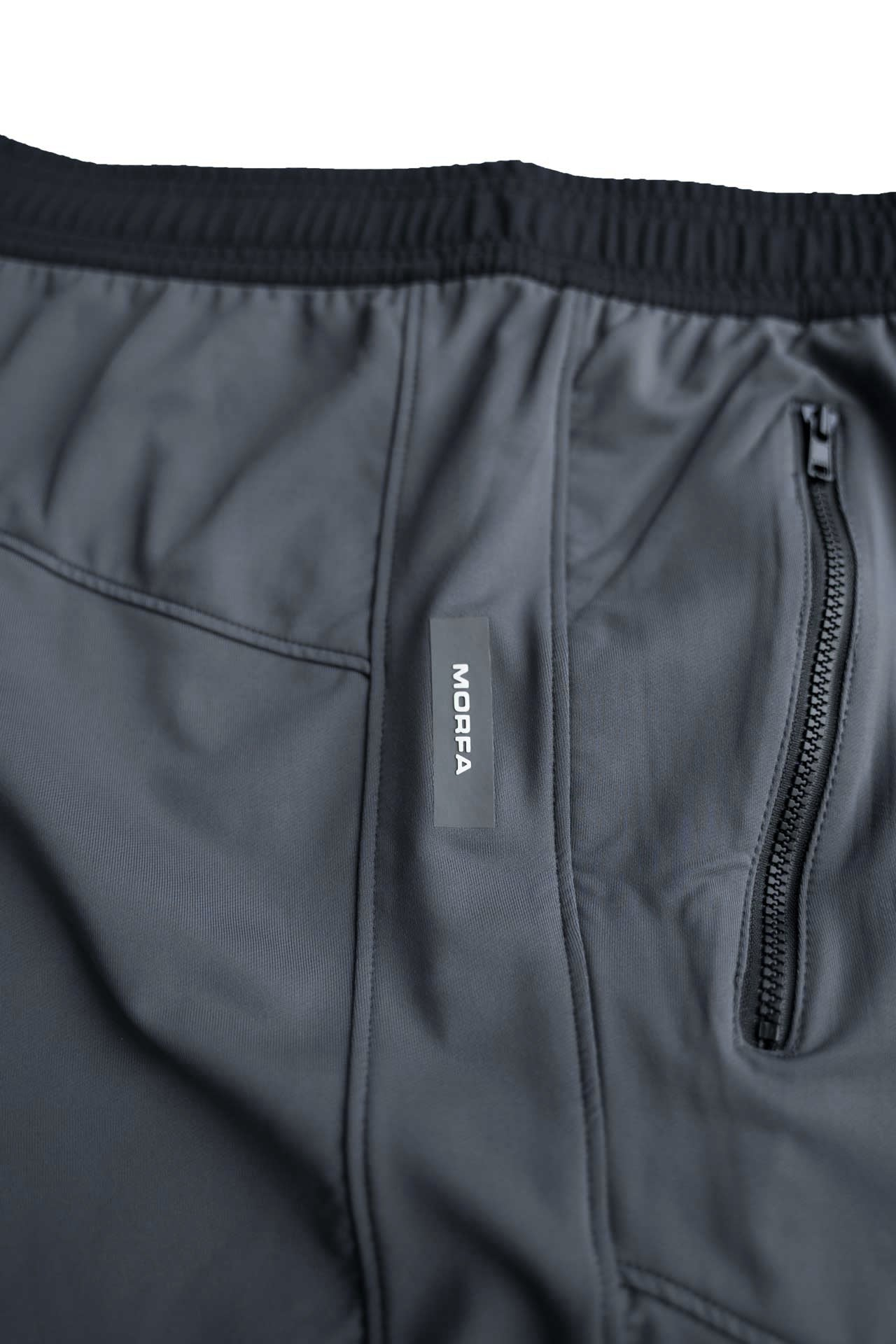 LIGHTWEIGHT -TECH STRETCH TRAINING SHORTS - GREY / BLACK