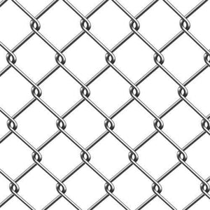 ALEKO Gates and Fences ALEKO Products ALEKOCLF115G4X50 Galvanized Steel 4 X 50 Feet (1.2 X 15m) Chain Link Fence Fabric, 11.5-AW Gauge CLF115G4X50-AP