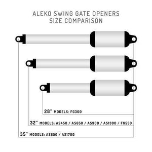 ALEKO Gates and Fences ALEKO Products Automatic Single Swing Gate Opener - EK365 - Basic Kit FG550NOR-AP FG550NOR-AP