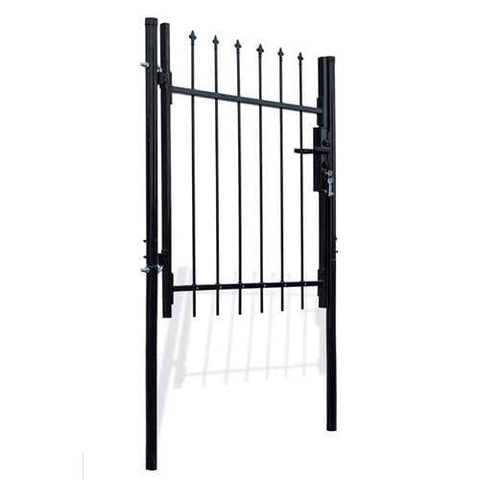 ALEKO Gates and Fences ALEKO Products DIY Steel Dual Swing Driveway Gate Kit - ATHENS Style - 15 x 5 Feet with Pedestrian Gate - 3 x 5 Feet DWGD15X5PD-AP