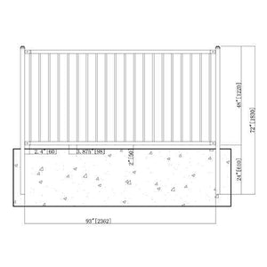 ALEKO Gates and Fences ALEKO Products DIY Steel Iron Wrought High Quality Fence - Lyon Style - 8 x 4 Feet FENCELYON8X4-AP