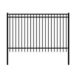 ALEKO Gates and Fences ALEKO Products DIY Steel Iron Wrought High Quality Fence - Nice Style - 8 x 5 Feet FENCENICE8X5-AP