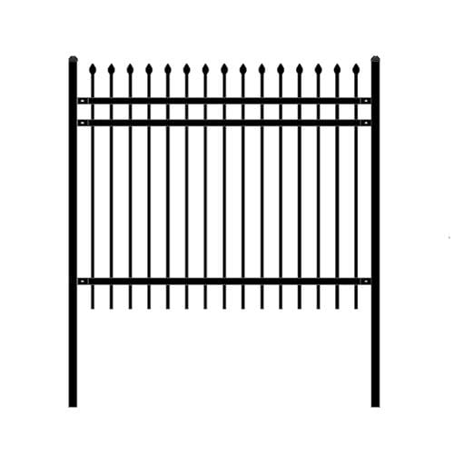 ALEKO Gates and Fences ALEKO Products DIY Steel Iron Wrought High Quality Ornamental Fence - Rome Style - 6 x 5 Feet FENCEROME6X5-AP