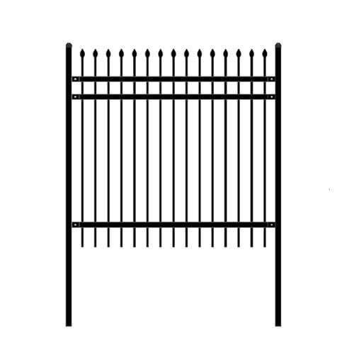 ALEKO Gates and Fences ALEKO Products DIY Steel Iron Wrought High Quality Ornamental Fence - Rome Style - 6 x 6 Feet FENCEROME6X6-AP